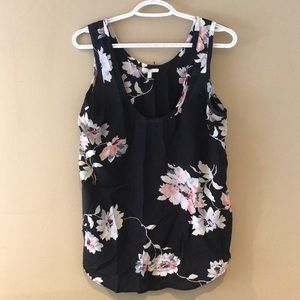 Joie silk floral tank size S